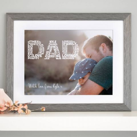 Personalised Dad Word Art Photo Art